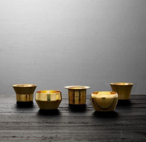 Skultuna Solid Brass Votive Holders - Brass (Set of 5)