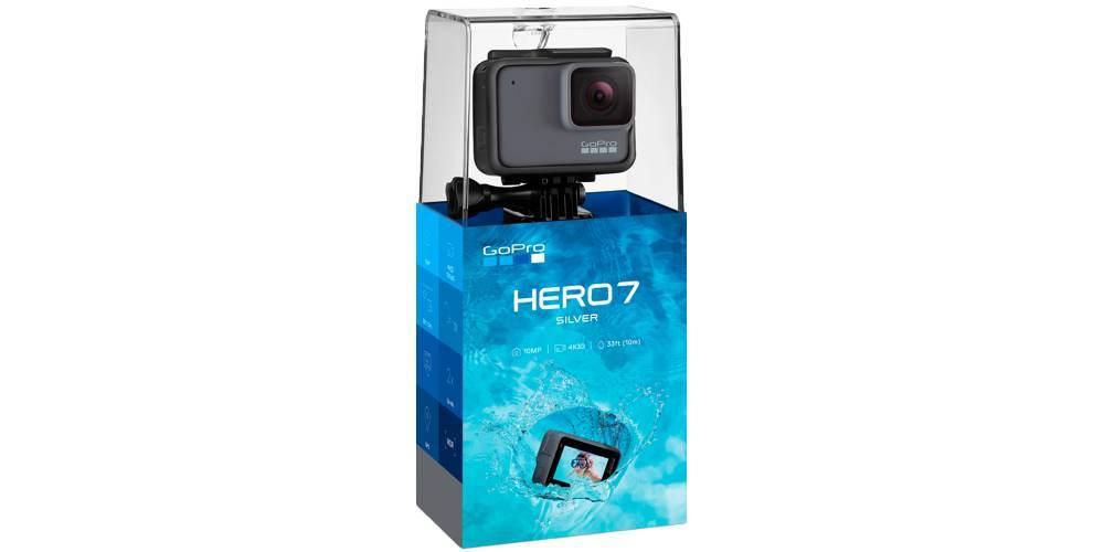 Экшн-камера GoPro HERO7 Silver Edition (CHDHC-601-LE) в упаковке