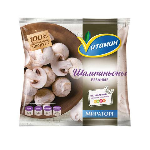 """Шампиньоны резанные """"Vитамин"""" с/м 400 г"""