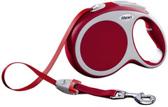 Поводок-рулетка Flexi VARIO L (до 50 кг) 8 м лента красная