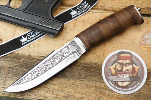 Туристический нож Ш-5 Барс Полированный Дерево
