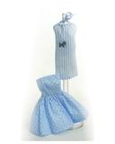 Два хлопковых платья - Голубой. Одежда для кукол, пупсов и мягких игрушек.