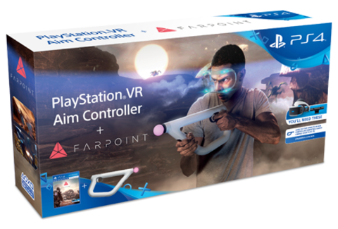 PS4 Комплект «Farpoint (только для VR, русская версия)» + Контроллер прицеливания PlayStation VR (CECHYA-ZRA2: SCEE)