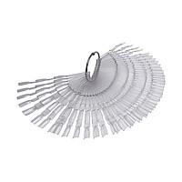 Палитра веер на кольце тройная прозрачная, 150 шт