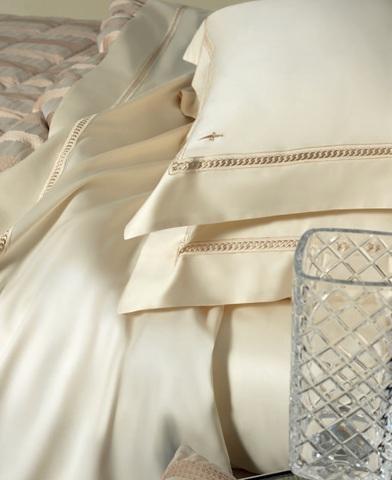 Постельное белье 2 спальное евро Cesare Paciotti Catena белое