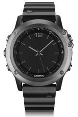 Спортивные смарт часы Garmin Fenix 3 Sapphire серые с металлическим браслетом (без датчика) 010-01338-21