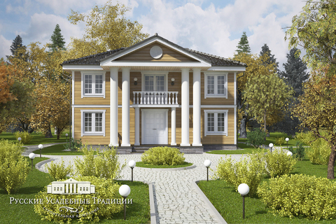 """Двухэтажный дом """"Усадьба"""" 140 кв.м."""