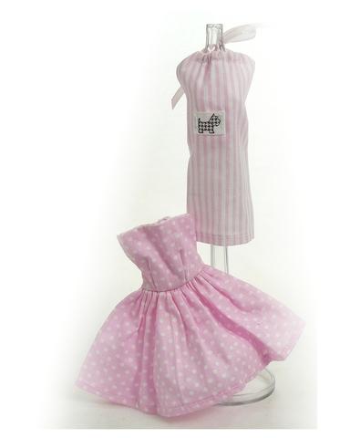 Два хлопковых платья - Розовый. Одежда для кукол, пупсов и мягких игрушек.