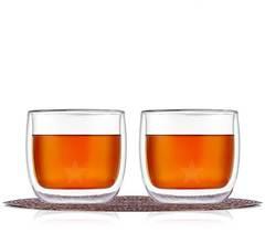 Стаканы с двойным дном и стенками для кофе и чая стеклянные объемом 300 мл, набор из 2 штук