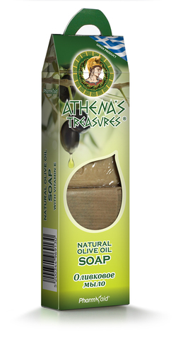 Оливковое мыло в подарочной упаковке Athena's Treasures 2 шт по 100 гр.