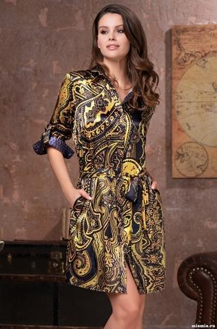 Рубашка халат на пуговицах MIA-Amore ARMANI GOLD  АРМАНИ ГОЛД 3497