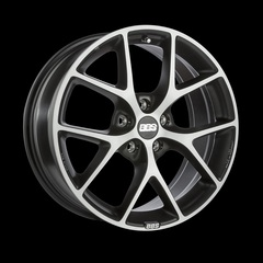 Диск колесный BBS SR 8x18 5x100 ET48 CB70.0 volcano grey/diamond cut
