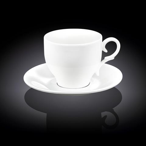 Набор чайная чашка и блюдце Wilmax 330 мл (WL-993105)