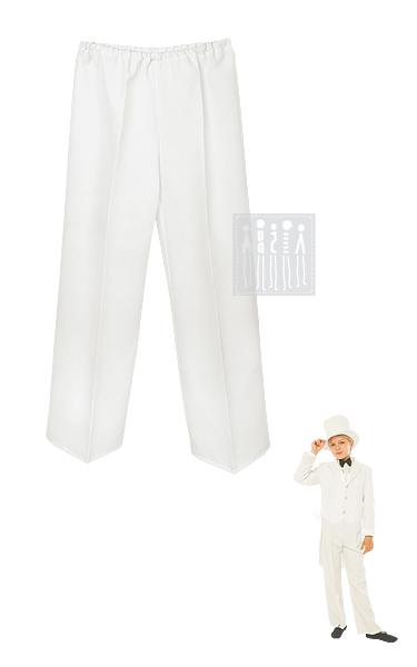 Белые брюки для мальчика дополняют классический образ и сочетаются с белым фраком. Брюки изготовлены из габардина.
