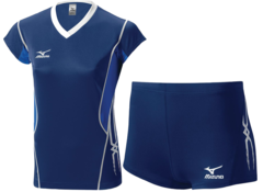 Женская волейбольная форма Mizuno Premium (V2EA4701M 14-V2EB4701M 14) синяя