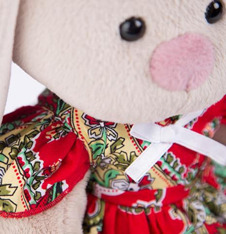 Зайка Ми в красном платье с клубничкой (большая)