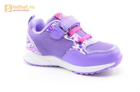 Светящиеся кроссовки для девочек Пони (My Little Pony) на липучках, цвет сиреневый, мигает картинка сбоку, 5868A. Изображение 2 из 15.