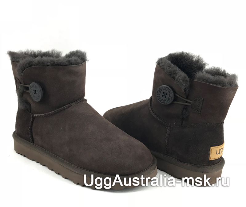 UGG Bailey Button II Mini Chocolate
