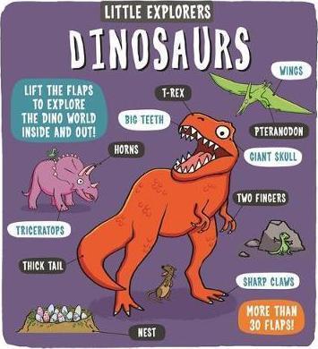 Kitab Little Explorers: Dinosaurs | Dynamo Ltd.