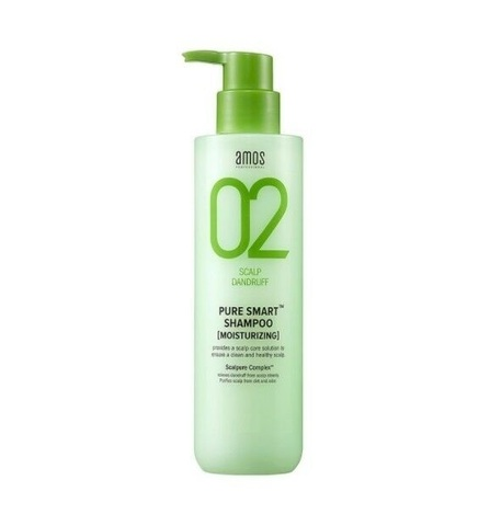 Шампунь от перхоти AMOS 02 scalp dandruff pure smart shampoo mini