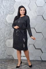 Марсия. Батальное платье из ангоры. Черный