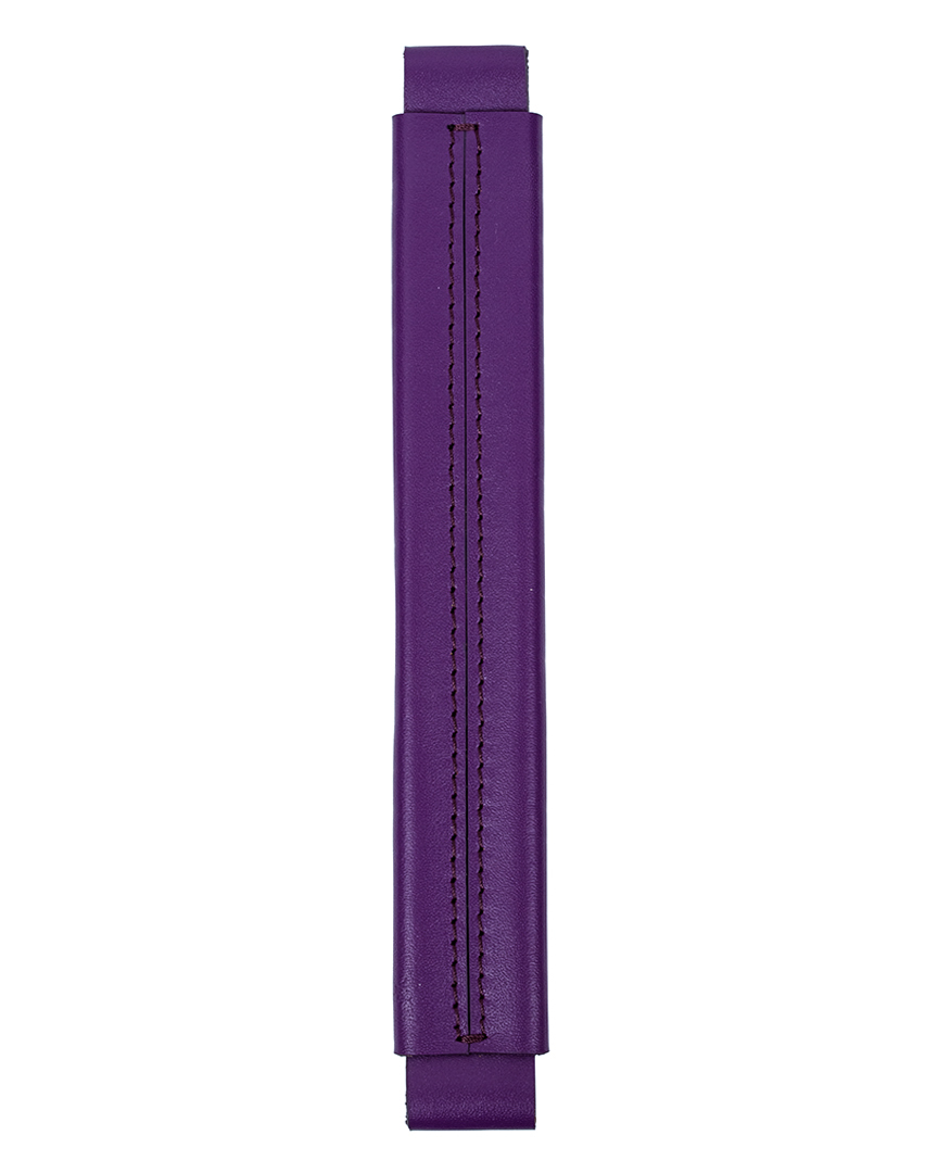 Сменная ручка из гладкой кожи фиолетового цвета
