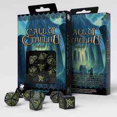 Call of Cthulhu Black & glow-in-the-dark Dice set (7)