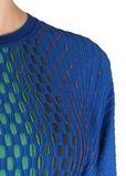Джемпер из вискозы и шерсти. Цвет синий/черный M MISSONI