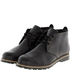 565483 ботинки мужские черные кожа больших размеров марки Делфино