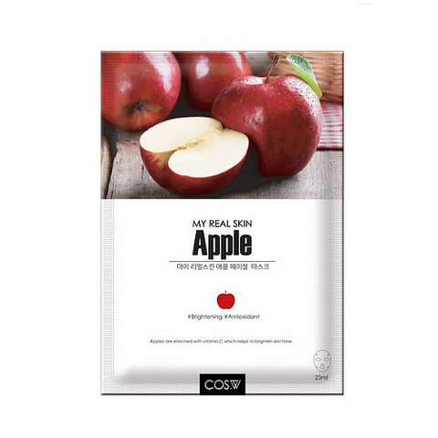 Маска тканевая экстракт яблока My Real Skin Apple Facial Mask от Cos.W