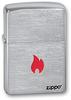 зажигалка zippo 200 since 1932 Зажигалка ZIPPO Flame Brushed Chrome латунь/никель-хром (200 FLAME)