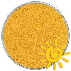 Кварцевый песок (для рисования), желтый