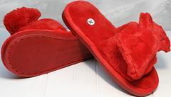 Домашние шлепанцы красные с бантом женские Yes Mile A-08 Red Bow.