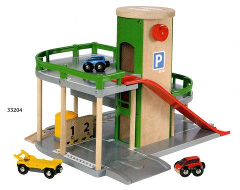 BRIO 33204 Парковка с лифтом и тремя машинками