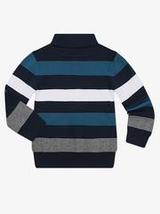 BSW001185 свитер детский, темно-синий/разноцветный