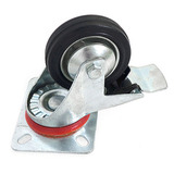 Колесо 80 мм на поворотном кронштейне с тормозом