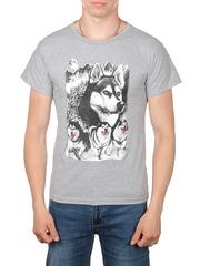 11112-1 футболка мужская, серая
