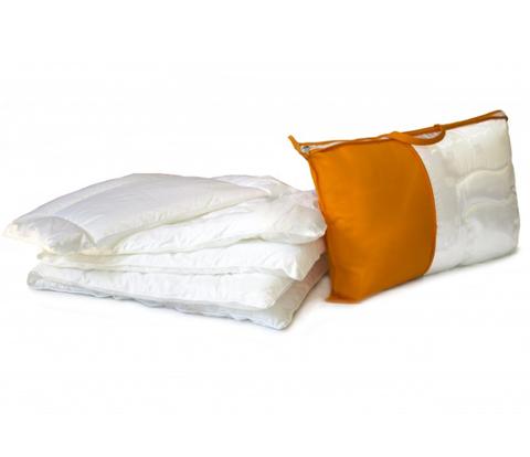 Комлект Одеяло + Тоненькая подушка в детскую кроватку (Итальянский батист + Искусственный лебединый пух)