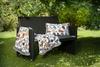 Плед шенилловый 150x85 Feiler Cats 210 silver с меховой отделкой