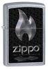 Зажигалка ZIPPO Flame Street Chrome латунь/никель-хром (28445) набор zippo street chrome™ из узкой и широкой зажигалок