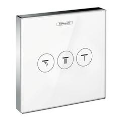 Запорный/переключающий вентиль Hansgrohe ShowerSelect 15736400 стеклянный.