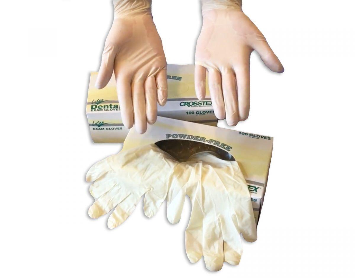"""Перчатки латексные без талька """"NEW Dental Exam Gloves"""" (50 пар)"""