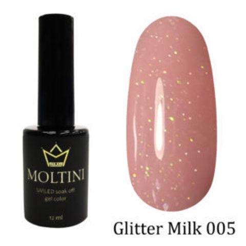Гель-лак Moltini GLITTER MILK 005, 12 ml