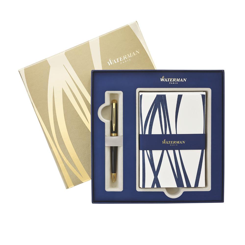 Набор подарочный Whaterman Hemisphere - Black GT, шариковая ручка, M+открытка
