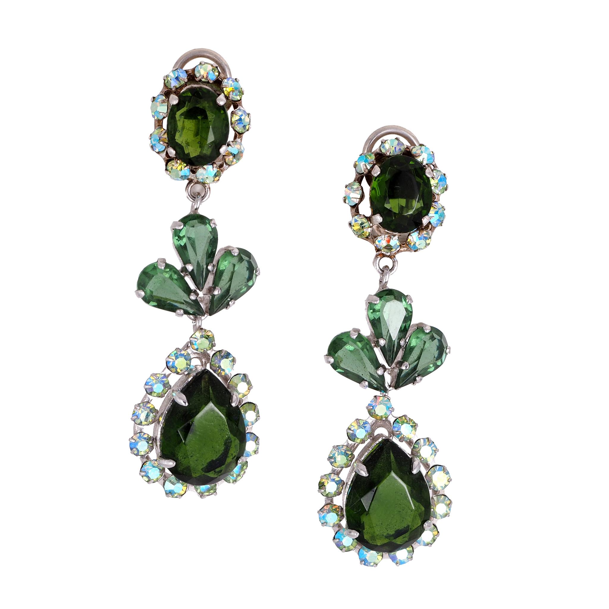 Клипсы Dior в нео-викторианском стиле