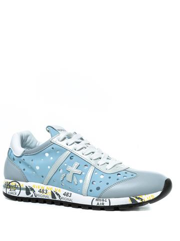 Комбинированные кроссовки Premiata Lucy-D 4640 с перфорацией