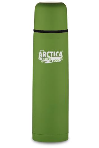 Термос Арктика (0,75 литра) с узким горлом классический, зеленый, резиновое покрытие