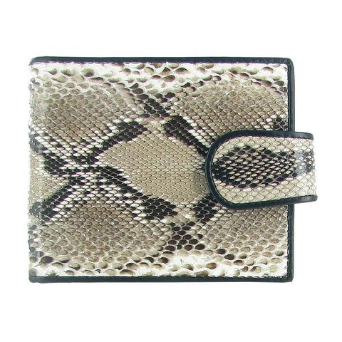 Стильный качественный практичный мужской кошелёк из натуральной экзотической кожи питона QUARRO WP-133