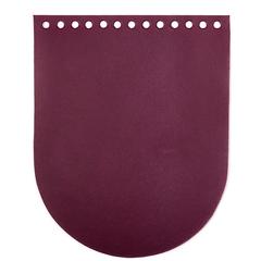 """Клапан для сумочки кожаный """"Марсала"""" 19,5 см на 15,5 см"""