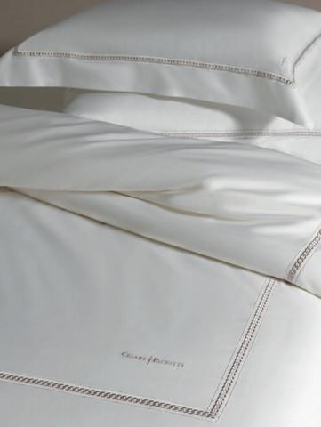 Постельное белье семейное Cesare Paciotti Catena белое